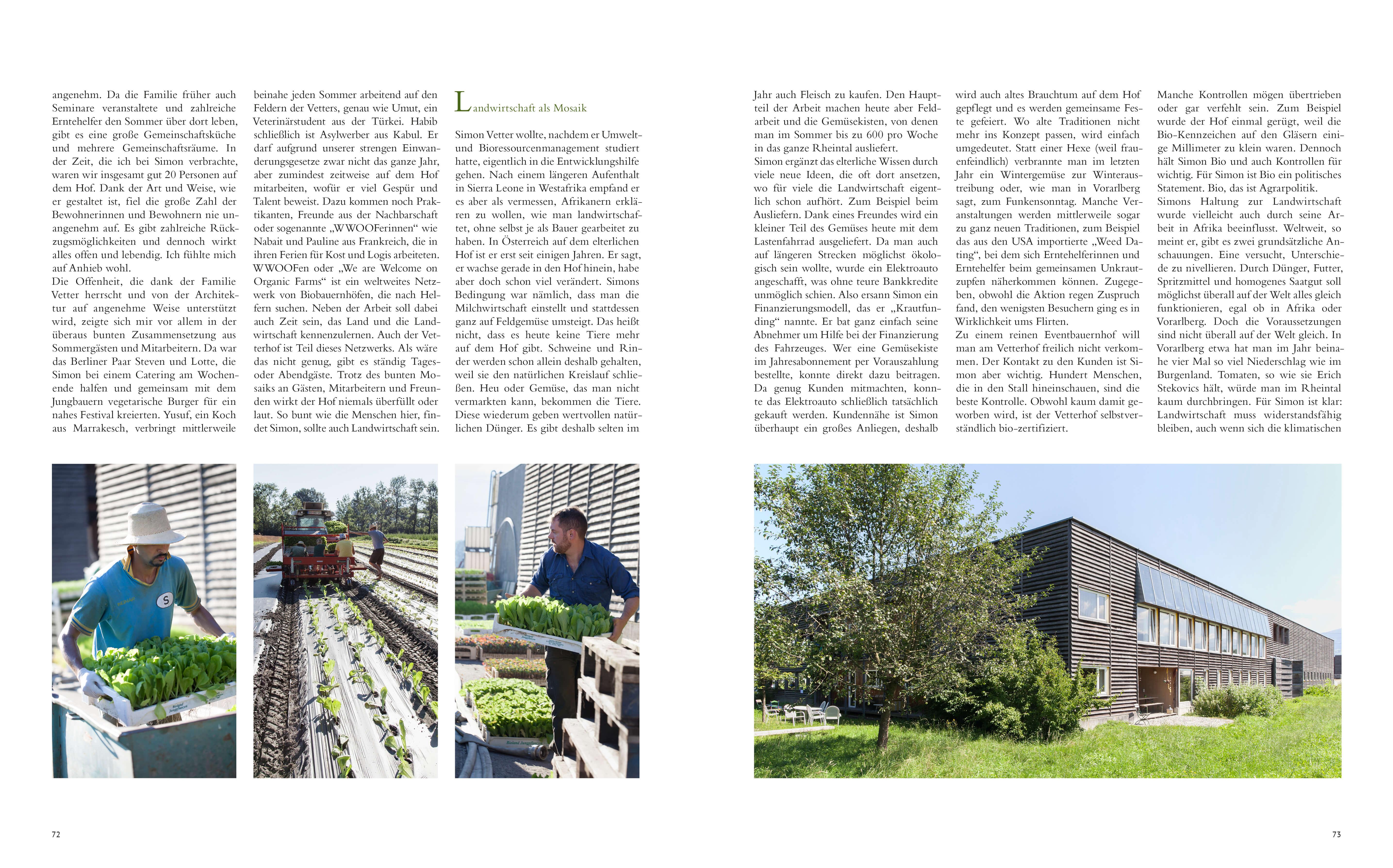 Ab Hof Kochbuch, Simon Vetter, Bauernhof